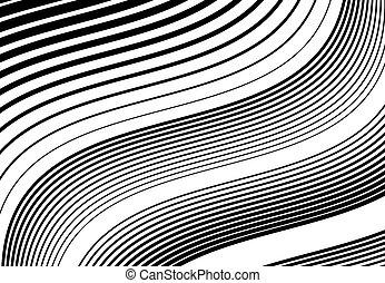 fond, raies, conception modèle, ondulant, lignes, résumé, travers, blanc, diagonal, inclinaison, noir, monochrome, élément, houleux, oblique, texture, onduler, ondulé