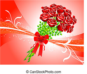 fond, roses rouges