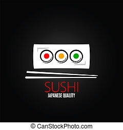 fond, rouleau, plaque, sushi, menu, conception