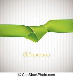 fond, ruban, résumé vert
