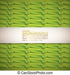 fond, rubans, résumé vert