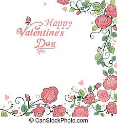 fond, `s, jour, valentin, r