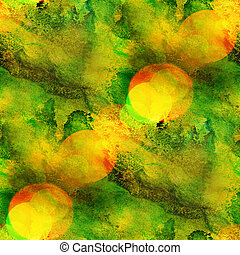 fond, seamless, aquarelle, texture, résumé, papier, couleur, peinture, modèle, eau, conception, jaune, vert, art