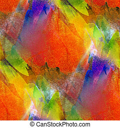 fond, seamless, aquarelle, texture, rouges, jaune, résumé vert, papier, couleur, peinture, modèle, eau, conception, art