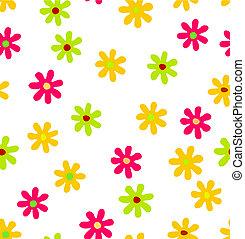 fond, seamless, floral
