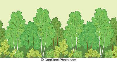 fond, seamless, forêt