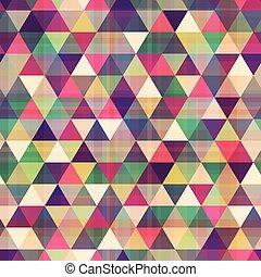 fond, seamless, triangle