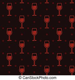 fond, seamless, verres vin