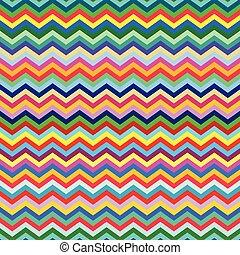 fond, seamless, zigzag, coloré