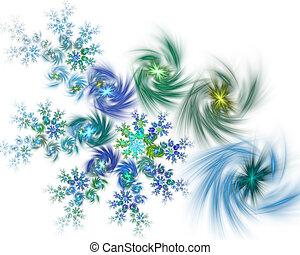 fond, spirale, résumé, fractal, sparkles., incandescent