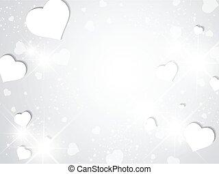 fond, st.valentine, coeur, jour