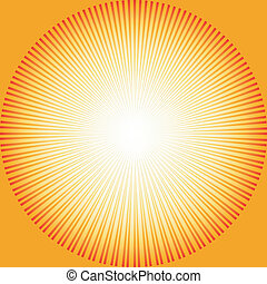 fond, sunburst, résumé, (vector)