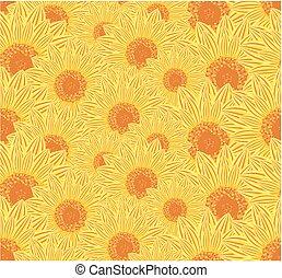 fond, sunflowers.