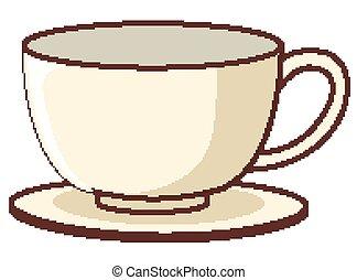 fond, tasse à café, blanc