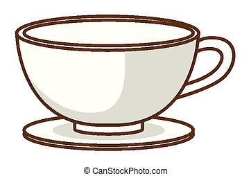fond, tasse, café blanc