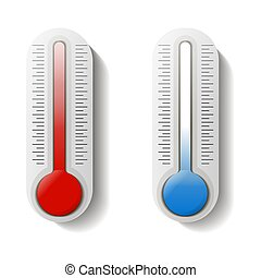 fond, .., temperature., heat., isolé, thermometer., froid, blanc