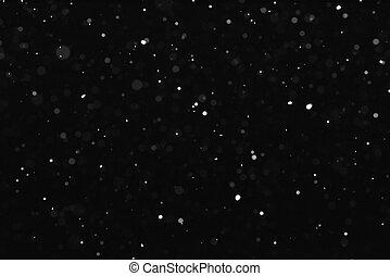 fond, tomber, noir, neige, texture