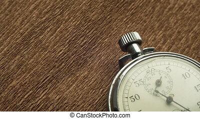 fond, tourne, chronomètre, brun, structural, vendange, flèche, blanc