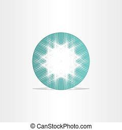 fond, turquoise, étoile, cercle, résumé