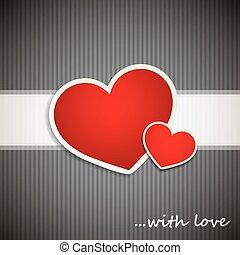 fond, valentineçs jour, cœurs