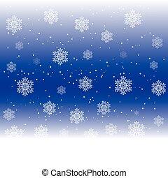 fond, vecteur, flocons neige