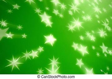 fond, vert, étoile