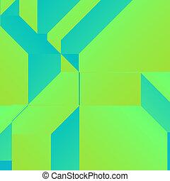 fond, vert, carrée