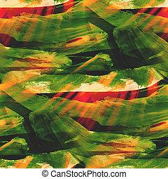fond, vert, jaune, seamless, aquarelle, texture, résumé, papier, couleur, peinture, modèle, eau, conception, art