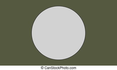 fond vert olive, cercle, contre
