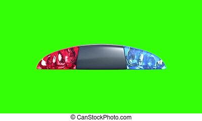 fond, vert, police, flasher