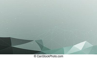 fond, vert, polygonal, cyan