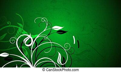 fond, vert, vignes, contre, croissant