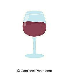 fond, vin verre, boisson, blanc