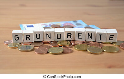 fondamental, mot, -, grundrente, allemand, pension