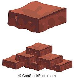 fondant, brownies, chocolat
