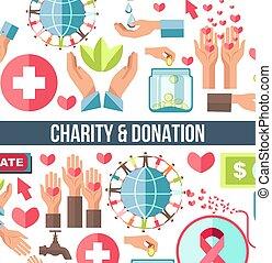 fondation, financier, humanitaire, donation, sanguine, aide, charité