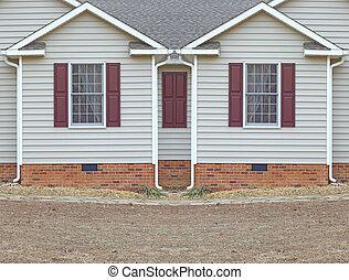 fondation, les, salle, rideaux, fenetres, maison, pris parti...