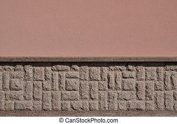 fondation, texture pierre, grossier, granit, horizontal, fort, mosaïque