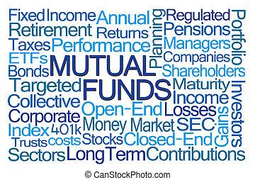 fondi comune investimento, parola, nuvola