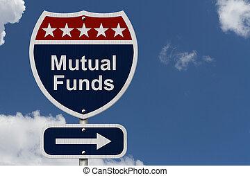 fondi comune investimento, segno, americano, autostrada, ...