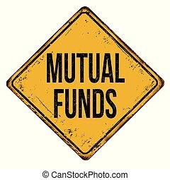 fondi comune investimento, segno metallo, arrugginito, ...