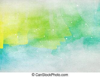 fondo., acuarela, digital, colorido, painting., arte ...