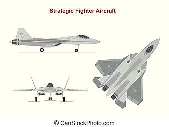 fondo., aislado, guerra, blanco, avión