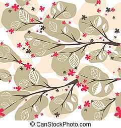 fondo, albero., illustrazione, vettore