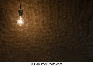 fondo, appendere, lightbulb