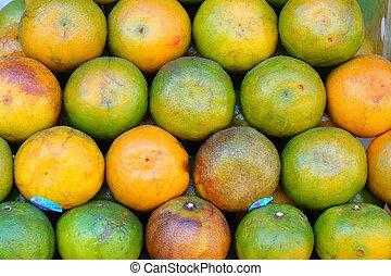 fondo, arancia, frutta