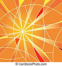 fondo, arancia, mosaico