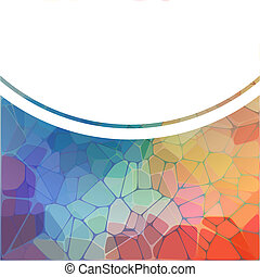 fondo, arcobaleno, geometrico, mosaico, colorito
