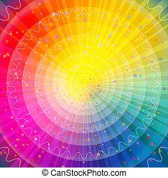 fondo, astratto, arcobaleno