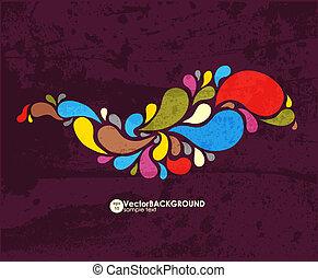 fondo., astratto, colorito, vector.